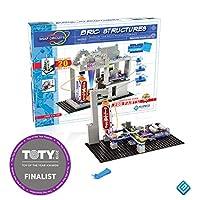 Snap Circuits BRIC:结构 ~ 砖和电子产品探索套件 | 超过 20 STEM 和砖项目 | 4 色创意书 | 20 个快照模块 | 75 个 BRIC-2-SNAP 适配器 | 140 + BRICs