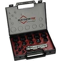 Mayhew Tools Pro 66000 1/8英寸至1-3 / 16英寸(约0.32至3.02厘米)Imperial SAE中空冲孔套件,16件