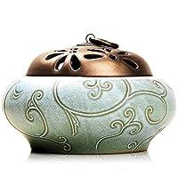 尚言坊 多款陶瓷盘香炉 创意香薰香插香道 沉香香器 佛具摆件SLP211-5(亚马逊自营商品, 由供应商配送)