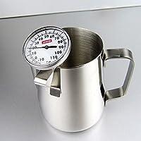 吉泰儿 啡忆 咖啡温度计 可挂式牛奶温度测量计 笔式可夹指针食品测温仪 咖啡温度计+拉花杯1000ml