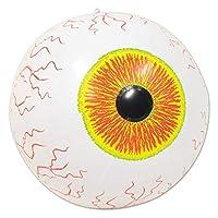 2 件装充气万圣节沙滩球装饰 | 充气眼球 | 16 英寸(约 40.6 厘米)