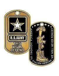 U.S. Army Fallen Heroes 狗牌,带链