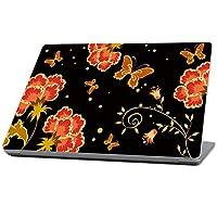 MightySkins 保护、耐用和独特的乙烯基外壳皮肤适用于 Microsoft Surface 笔记本电脑 (2017) 13.3 英寸 - 花梦,黑色(MISURLAP-Flower Dream)
