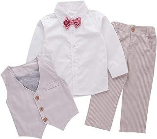 Bilo 婴幼儿男孩 3 件套正装衬衫、背心和裤子