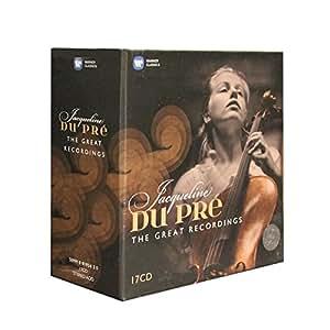正版包邮 杜普蕾EMI录音全集17CD大提琴作品经典套装 欧版原装中图原版进口碟 欧洲生产高品质古典套装