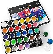 ARTEZA 幼童手指涂画,*,30 种颜色,1 液体盎司容量,可洗,儿童艺术套装,适用于纸、帆布和 DIY 项目