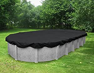 Pool Mate 381015-PM Black Mesh Winter Cover for Oval Above Ground Swimming Pool 黑色 15 x 30-Foot Pool