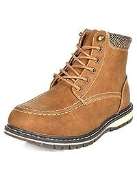 Bruno Marc 男童幼童/小童/大童Apache 人造毛皮冬季雪踝靴