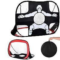CAIHELONG 可折叠弹出足球目标户外便携儿童足球网和手提箱儿童足球目标非常适合室内和室外运动和练习
