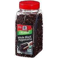 McCormick Whole Black Peppercorns (Organic, Non-GMO, Kosher), 13.75 oz