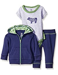 Yoga Sprout Baby Boys' Pant, Bodysuit, and Hoodie Set