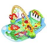 AUBY 澳贝 益智玩具 森林钢琴健身架 婴幼儿摇铃音乐盒健身器 踢踏琴 钢琴 软垫 463325DS