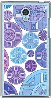 Coverfull 紫色 圆盘 图案 (透明) / for AQUOS CRYSTAL 305SH/SoftBank SSH305-PCNT-212-M727 SSH305-PCNT-212-M727