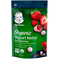 Gerber 嘉宝 有机酸奶水果小吃 红浆果 1盎司(28g) 7包装