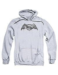trevco 男式蝙蝠侠大战超人 cityscape 徽标成人连帽运动衫