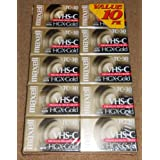Maxell VHS-C 摄像机录像带 HGX-金色 TC-30(10 包)