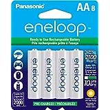 Panasonic松下BK-3MCCA8BA Eneloop AA 2100次镍氢充电电池 (8节装)