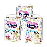 (跨境自营)(包税) Merries花王 妙而舒 拉拉裤加大号XL38*3(12-22kg) 日本原装进口