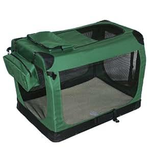 Ondoing优贝卡宠物钢管折叠布笼 墨绿色 XXL 91.4X63.5X63.5cm 大型犬适用