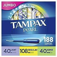 Tampax 丹碧丝 珍珠塑胶内置式长导管卫生棉条无香型 混合50支*4(共200支)
