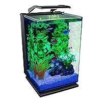 "GloFish 水族箱套件鱼缸,含 LED 照明和过滤 ""Multi"" 5-Gallon Portrait Kit"