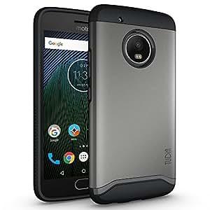TUDIA Moto G5 Plus Case, SlimFit HEAVY DUTY [MERGE] EXTREME Protection / Rugged but Slim Dual Layer Case for Motorola Moto G5 Plus (Metallic Slate)