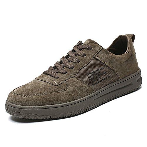 马爷子 男士休闲鞋潮流四季鞋子 猪皮板鞋 男鞋时尚潮流单鞋 时尚字母鞋 JP75-D212-X