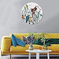 Anndr 家居装饰画 轻质无气味 自然的选择——《鹦鹉天堂》吴冠中即兴经典之作 (50cm*50cm)