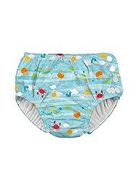 I PLAY 婴儿男孩终极 SNAP 游泳尿布 M & M 多条纹