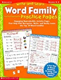 Write-and-learn Word Family Practice Pages, Grades K-2