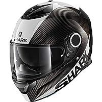 鲨鱼摩托车头盔 SPARTAN CARBON 1.2 皮肤 S 黑色 HE3400EDWSS