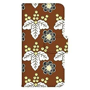 智能手机壳 手册式 对应全部机型 印刷手册 wn-673top 套 手册 花朵图案 UV印刷 壳WN-PR136931-MX ELUGA X P-02E 图案G
