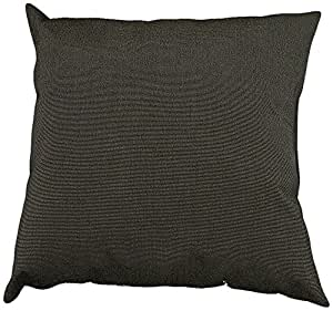 Mansion Solid Outdoor Pillow Gun Metal 18-Inch