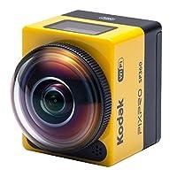 Kodak SP360 16 MP 数码相机,带 1 英寸光学图像稳定变焦 LCD(黄色)SP360 with Explorer Accessory Pack (YL3) Explorer 配件包 黄色