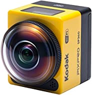 Kodak SP360 16 MP 數碼相機,帶 1 英寸光學圖像穩定變焦 LCD(黃色)SP360 with Explorer Accessory Pack (YL3) Explorer 配件包 黃色