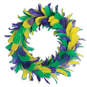 Beistle 57903-GGP Feather Wreath, 12-Inch