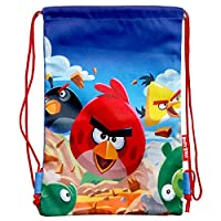 Blue Angry Birds 抽绳包 - 愤怒的小鸟包