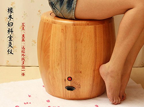 橡木远红外线坐灸仪 坐熏仪器无烟艾灸仪器 橡木坐熏仪 艾灸桶 橡木坐灸仪 红外线熏蒸仪