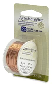 Artistic Wire 22-Gauge Natural Wire, 8-Yards