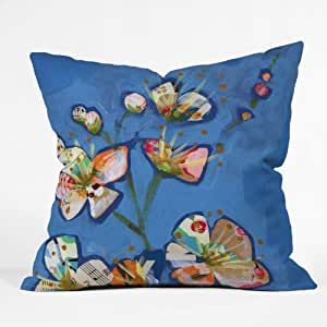 DENY Designs Land Of Lulu Apple Blossoms 1 Throw Pillow, 20 x 20