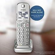 松下 KX-TGE463S Link2Cell 蓝牙无线电话接听机 - 3 个手机套 可选附加听筒 银色