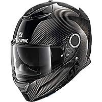 鯊魚摩托車頭盔 SPARTAN CARBON 1.2 皮膚 M 黑色 HE3400EDKAM