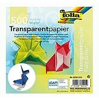 Global Art Folia 半透明原紙15.24cm x 15.24cm 散裝包 500 張