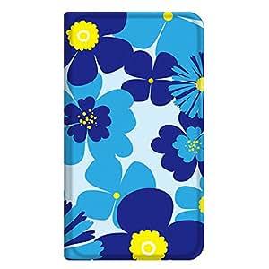 智能手机壳 手册式 对应全部机型 薄型印刷手册 cw-296top 套 手册 花朵图案 超薄 轻量 UV印刷 壳WN-PR340940-MX Xperia Z5 SO-01H 图案 A