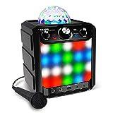 ION 音频无线扬声器 Party Rocker Express 蓝牙音箱 带 LED 和麦克风 (来自任何蓝牙设备的音乐传输 内置麦克风 使灯光与音乐同步 范围:30 英尺 (约 9.14 米))。