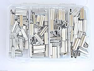 铝制双管卷发套件 50 件,每件 1.5、1.7、2.0 和 2.3 毫米 200 磅-400 磅
