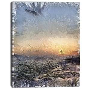 """设计艺术 PT13577-28-36-3P 海浪彩色风景帆布墙画 12x20"""" PT13577-12-20"""