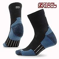 zealwood 4双装椰碳专业马拉松跑步袜子男女户外登山透气运动速干袜