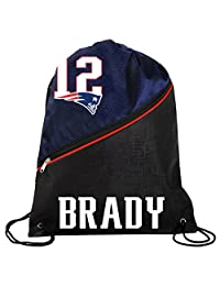 FOCO 新英格兰爱国者队官方高端对角线拉链抽绳背包健身包 - Tom Brady #12