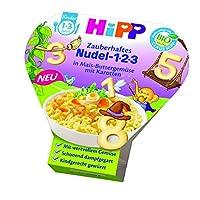 HiPP 喜宝 魔法1-2-3数字面 玉米黄油蔬菜胡萝卜,6盒装(6 x 250克)